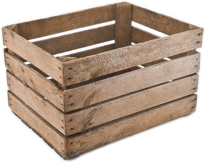 Caja de madera vintage 40 x 50 x 30 cm Madera Antiguo decorativo caja Nostalgie cajón-estantería fruta (: Amazon.es: Hogar