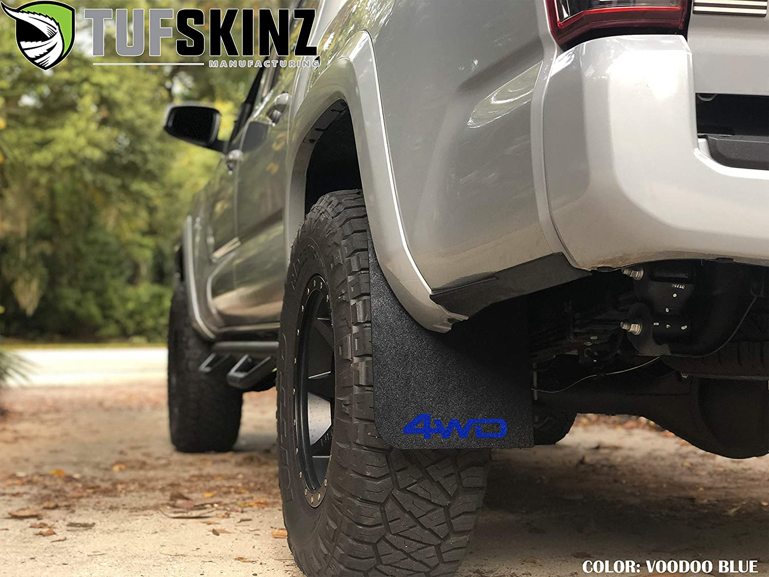 TufSkinz Mud Flaps Fits 2016-up Toyota Tacoma -2 Piece Kit /… Front Mud Flaps, White