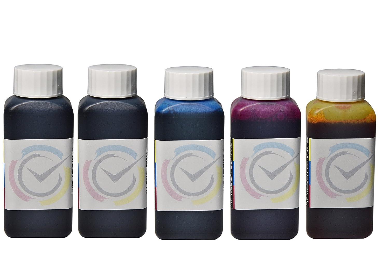 5 botellas de tinta de 100ml compatible cartuchos Epson 26 / 26XL ...