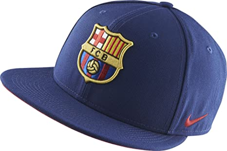 afe6593866e7 Image Unavailable. Image not available for. Color  Nike Barcelona Core  Adjustable Flat-Brim Cap ...