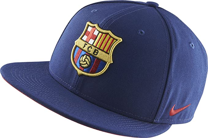 cdbd73823ea85 Amazon.com   Nike Barcelona Core Adjustable Flat-Brim Cap (Loyal Blue)    Clothing