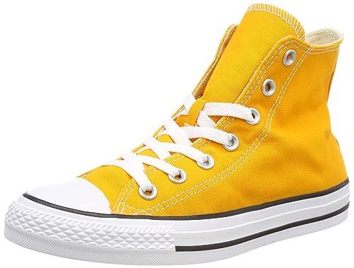 Converse C Taylor All Star Hi Chuck Scarpe Sneaker Canvas Arancione Ray 159674c