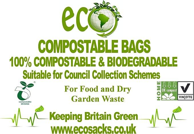 Bolsas de basura compostables, desperdicio de alimentos para ...