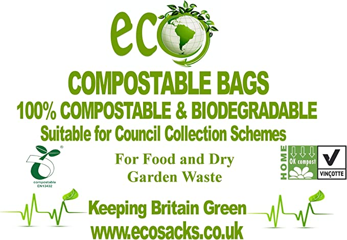 7L biodegradables para bolsas de basura residuos de alimentos X De ...