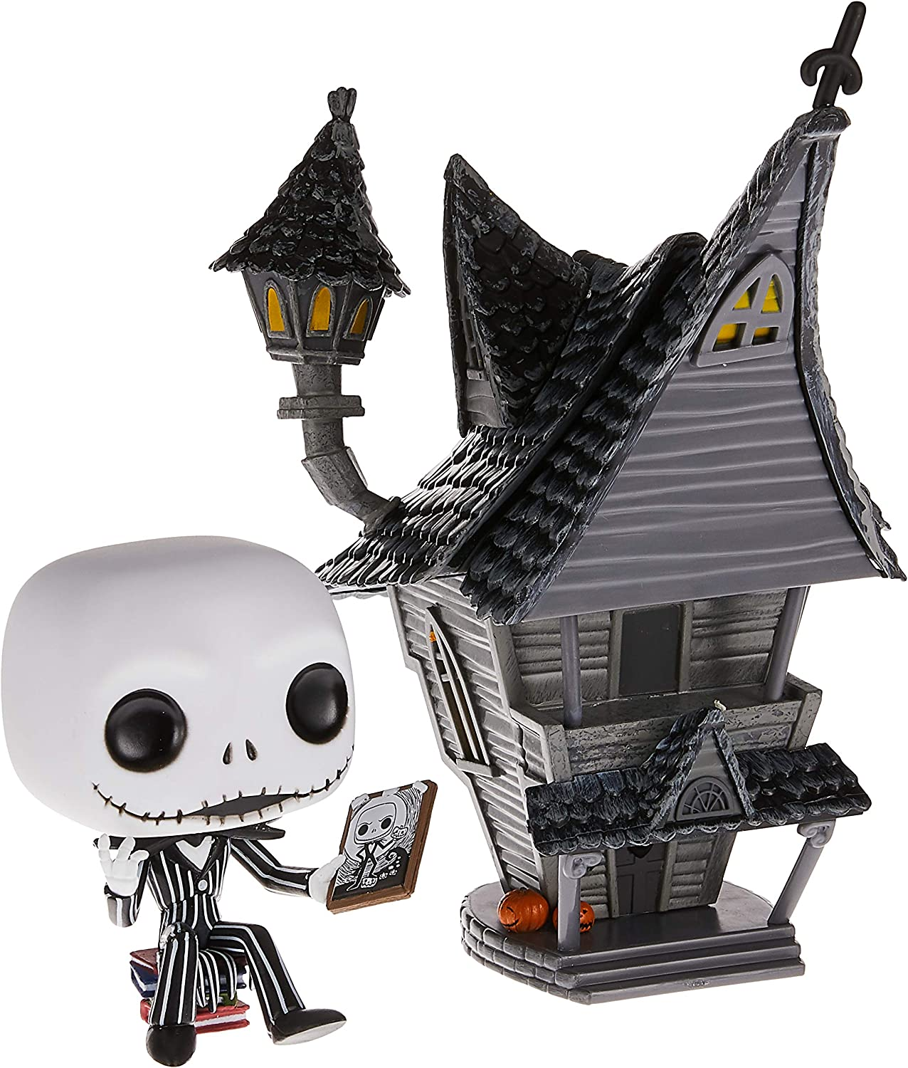 Funko- Pop Figura De Vinil: Town: Nightmare Before Christmas-Jack-Jack's House W Coleccionable, Multicolor, Talla única (42599)