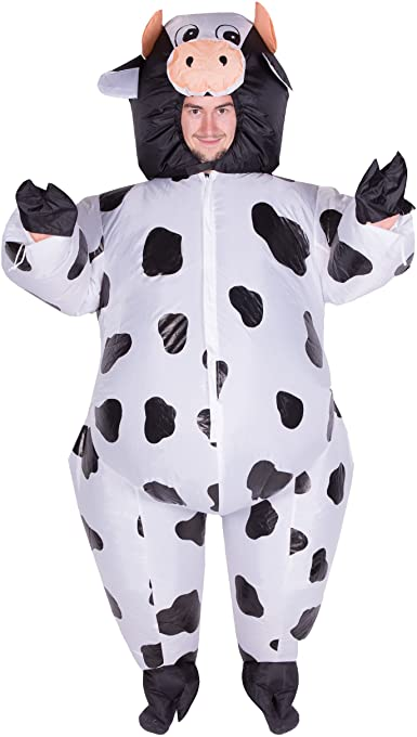 Kids Children Boys Girls Inflatable Farm Animal Cow Fancy Dress Costume Outfit
