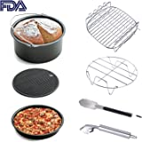 Air Fryer Accessories 7pcs for Gowise Phillips and Cozyna or More Brand, fit all 3.7QT 5.3QT 5.8QT with 7 Inch Diameter by KINDEN