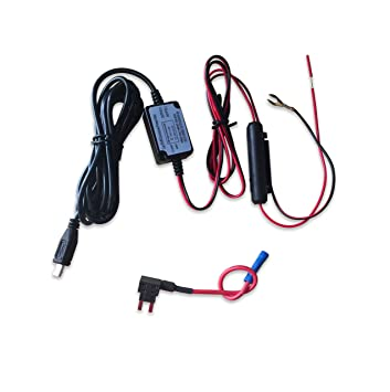 81fpW HFgEL._SY355_ amazon com wocst car camera hard wire kit with micro usb direct hardwire garmin gps to fuse box at webbmarketing.co