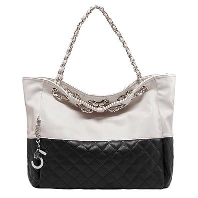 734df6c91 Amazon.com: Ginkgo Brand New Korean Lady Hobo Tote PU leather handbag  shoulder bag For Woman Black: Shoes