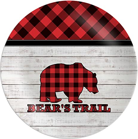 Lumberjack Plaid Melamine Plate (Personalized)  sc 1 st  Amazon.com & Amazon.com | Lumberjack Plaid Melamine Plate (Personalized): Dinner ...