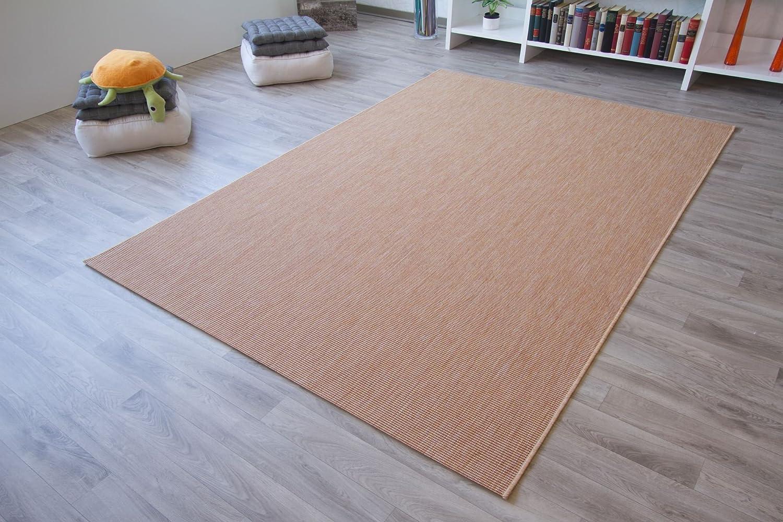 In- und Outdoor Teppich Halland Sisal Optik Beige Webteppich, GUT Siegel Zertifiziert, Größe  240x340 cm