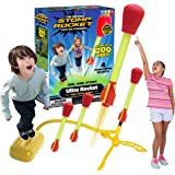 The Original Stomp Rocket Ultra Rocket Launcher, 4 Rockets and Toy Air Rocket Launcher - Outdoor Rocket STEM Gift for Boys an