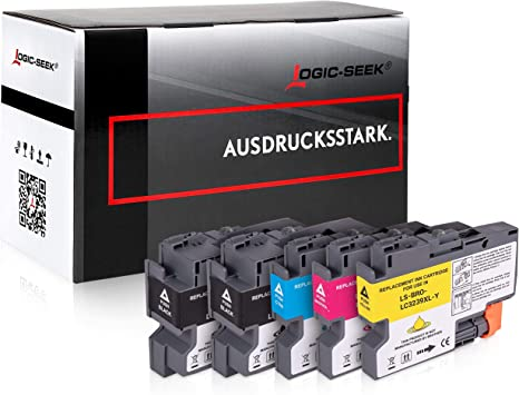 Logic Seek 5 Ink Cartridges Compatible With Brother Lc 3239 Xlhl J6000dw Hl J6100dw Mfc J5945dw Mfc J6945dw Mfc J6947dw Bürobedarf Schreibwaren