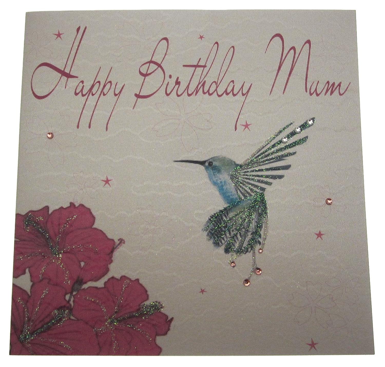 Amazon White Cotton Cards Handmade Happy Birthday Mum Birthday
