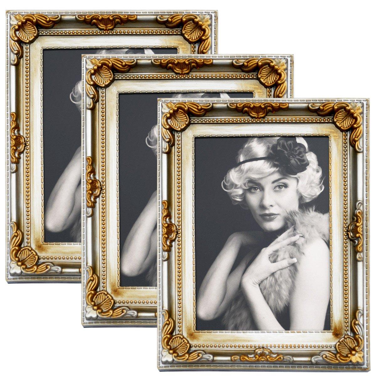 WOLTU 3er Packung Bilderrahmen 10x15cm Bild Rahmen Foto Galerie ...