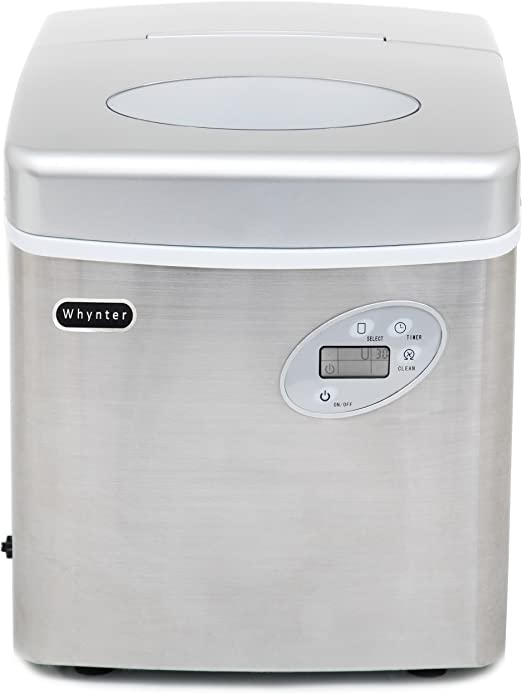 Stainless Steel 49-Pound Whynter IMC-490SS Portable Ice Maker