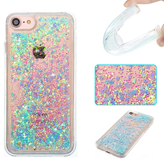 reputable site 29712 3596b DAMONDY iPhone 7 Case,iPhone 7 Glitter Case,3D Cute Bling Liquid Glitter  Floating Quicksand Diamond Water Flowing Ultra Clear Soft TPU Case for  Apple ...