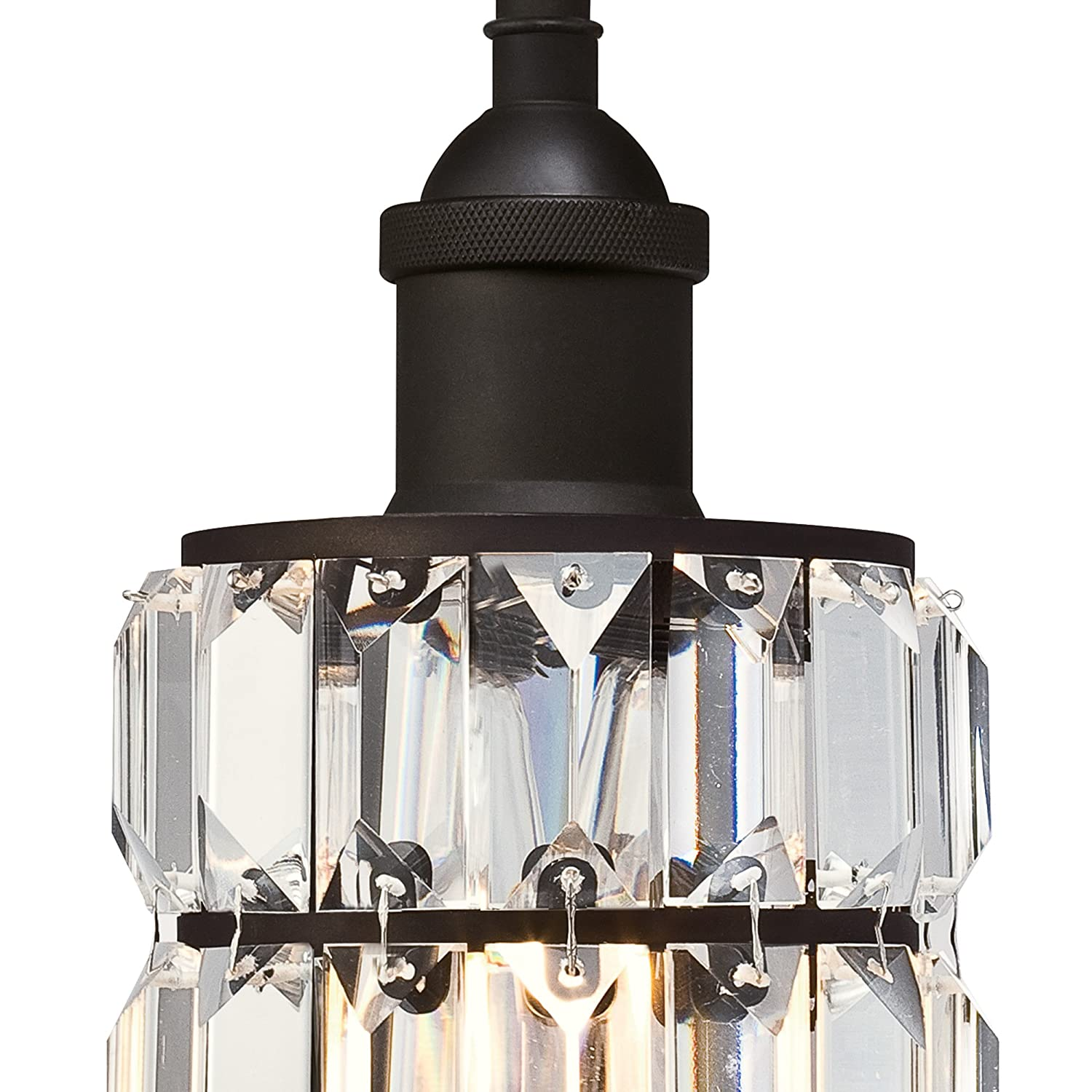 Westinghouse Lighting 6337500 Sophie One-Light Indoor Wall Fixture Oil Rubbed Bronze Finish with Crystal Prism Glass