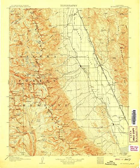 Where Is Mount Whitney On The California Map.Amazon Com Yellowmaps Mt Whitney Ca Topo Map 1 125000 Scale 30 X