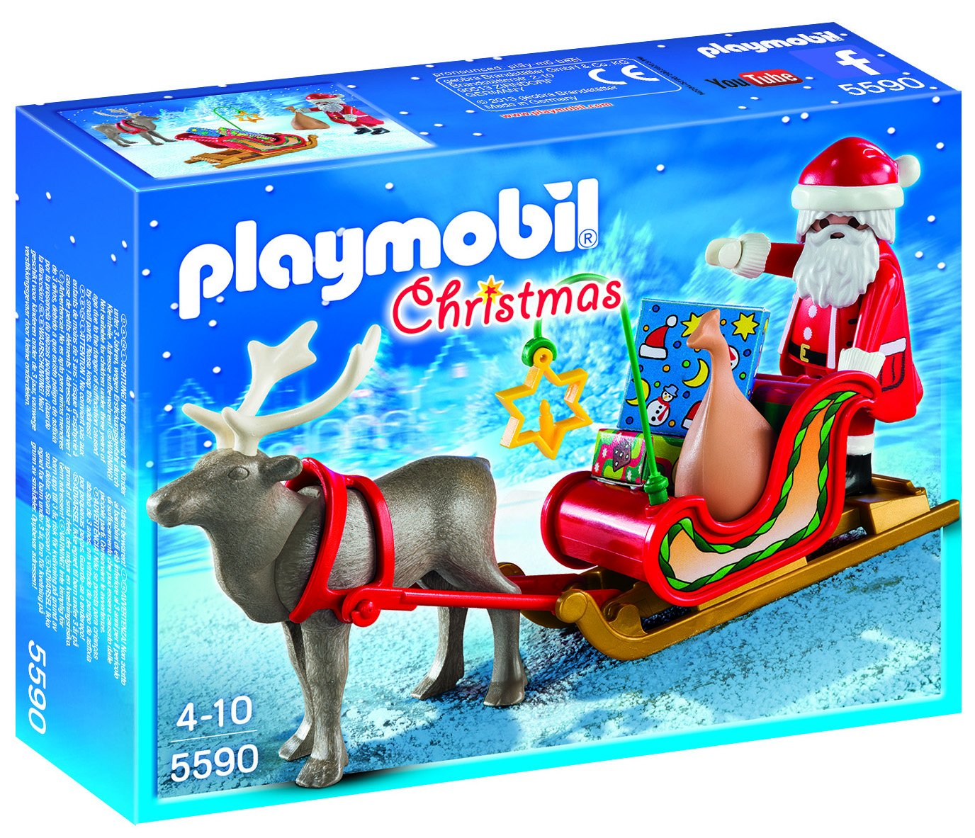 amazon com playmobil santa u0027s sleigh with reindeer toys u0026 games