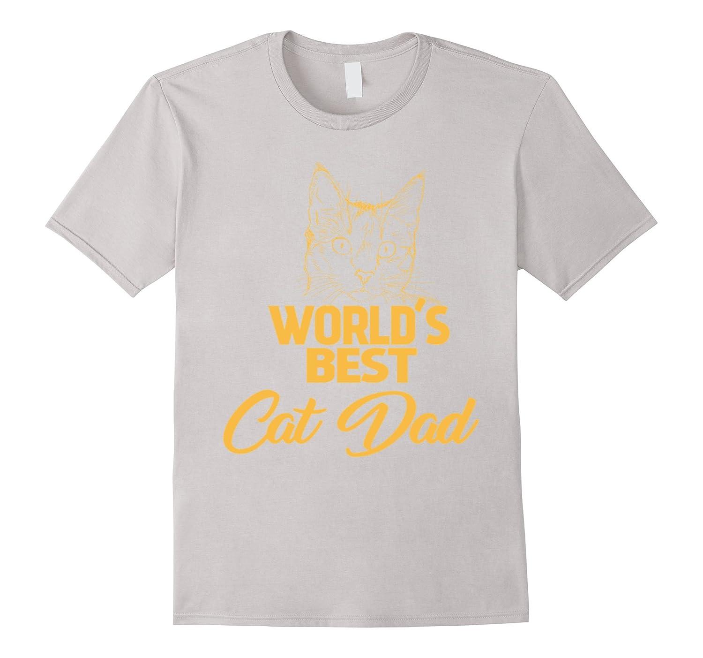 b65e2fb17 Worlds Best Cat Dad Cat Lover Gift T-Shirt – Hntee.com