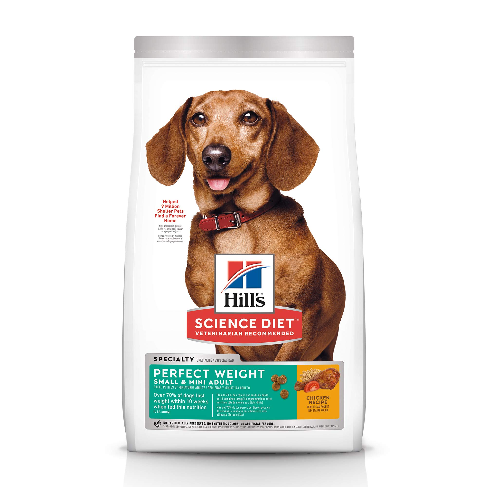 Hill's Science Diet Dry Dog Food, Adult, Perfect Weight for Healthy Weight & Weight Management, Small & Mini, Chicken Recipe, 15 lb Bag by Hill's Science Diet