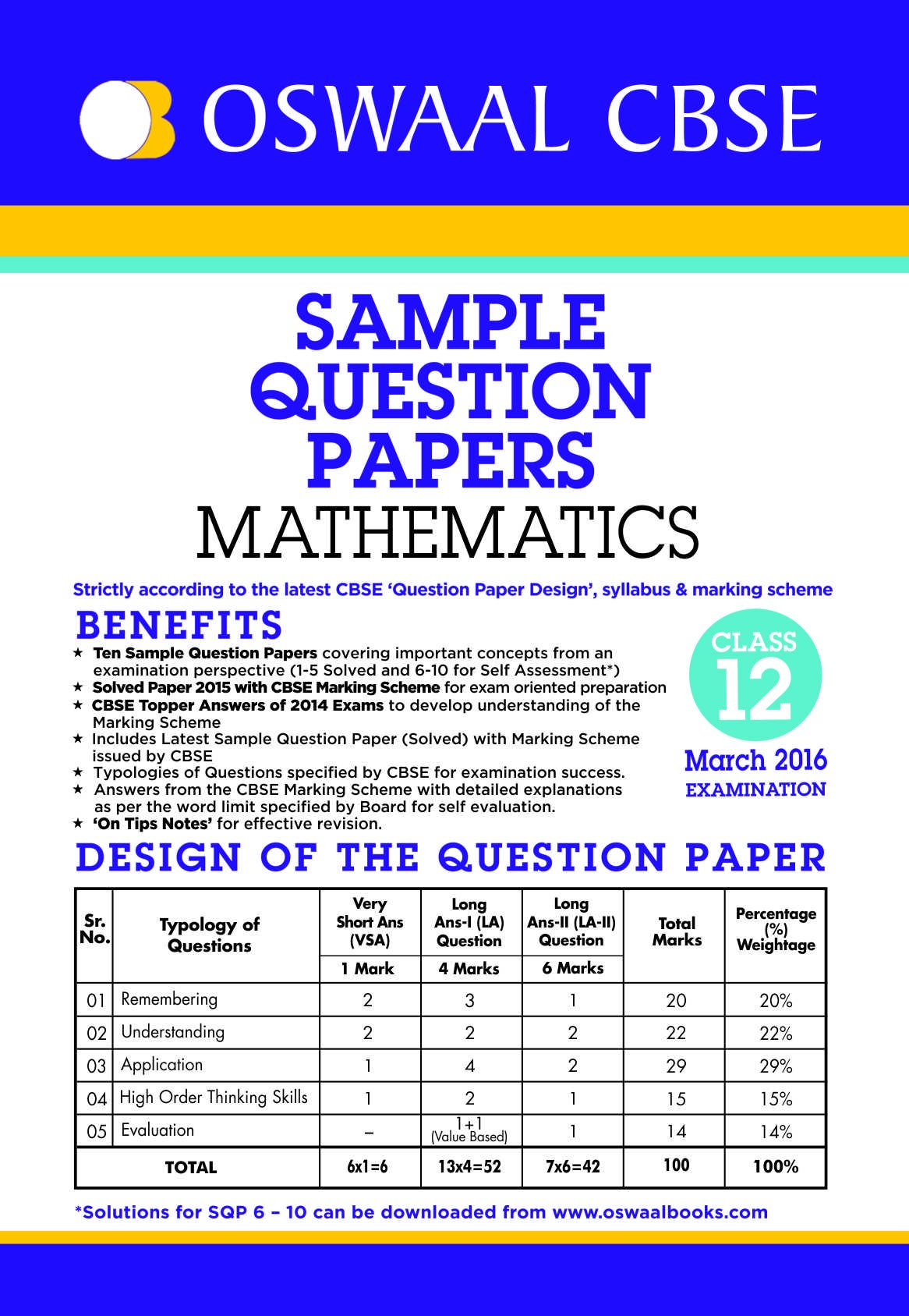 Amazon buy oswaal cbse sample question papers for class 12 amazon buy oswaal cbse sample question papers for class 12 mathematics for 2016 exams book online at low prices in india oswaal cbse sample question malvernweather Choice Image