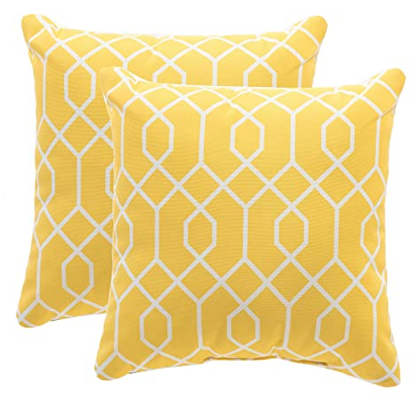 Yellow Outdoor Throw Pillows.Tina S Home Yellow Outdoor Patio Pillows Waterproof Down Alternative Throw Pillow For Patio Bench Swing Couch Decor Set Of 2 16x16