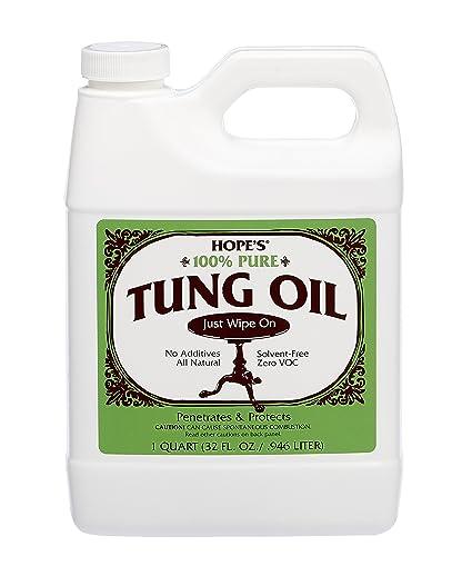 Amazon Com Hope S 100 Pure Tung Oil Moisture Resistant Wood