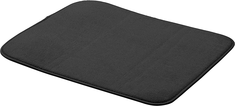 "AmazonBasics Dish Drying Mat - 16"" x 18"" - Black, 3-Pack"