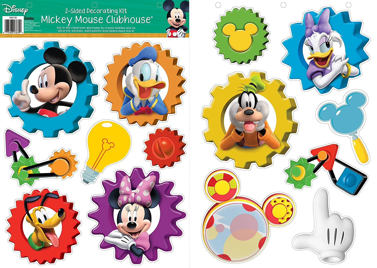 Eureka Mickey Mouse Clubhouse 2-Sided Deco Kits (840156)