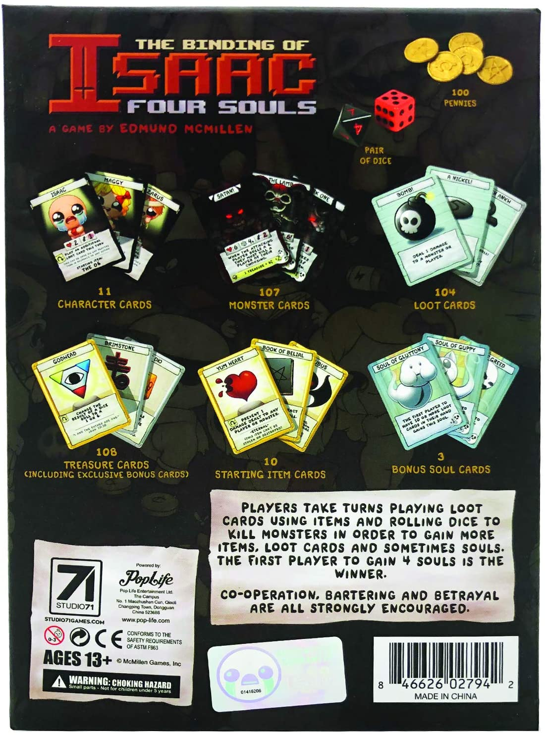 The Binding of Isaac Four Souls (edición Exclusiva de 3 Tarjetas): Amazon.es: Juguetes y juegos