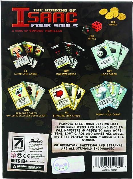 The Binding of Isaac Four Souls (edición Exclusiva de 3 Tarjetas): Amazon.es: Juguetes y juegos