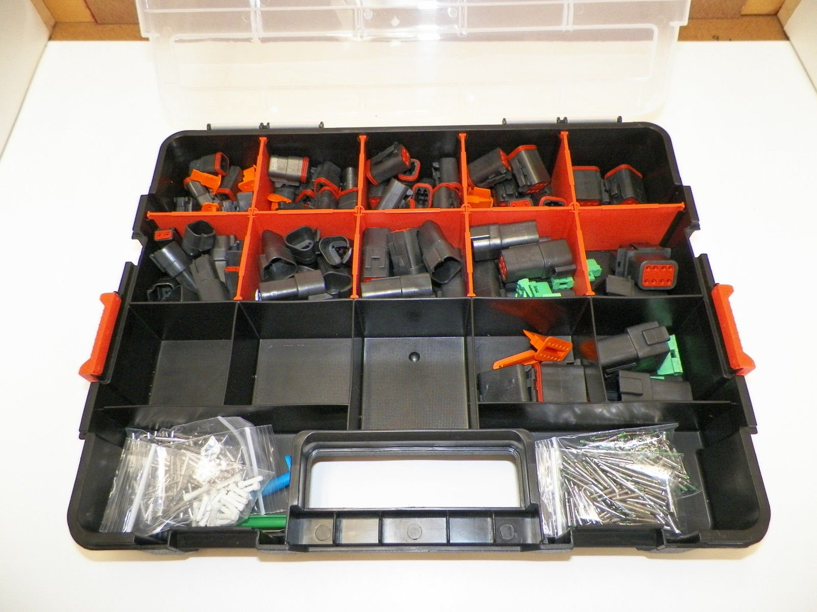 DEUTSCH DT CONNECTOR KIT BLACK OEM 518 Piece Kit STAMPED TERMINALS + REMOVAL TOOLS, MALE & FEMALE