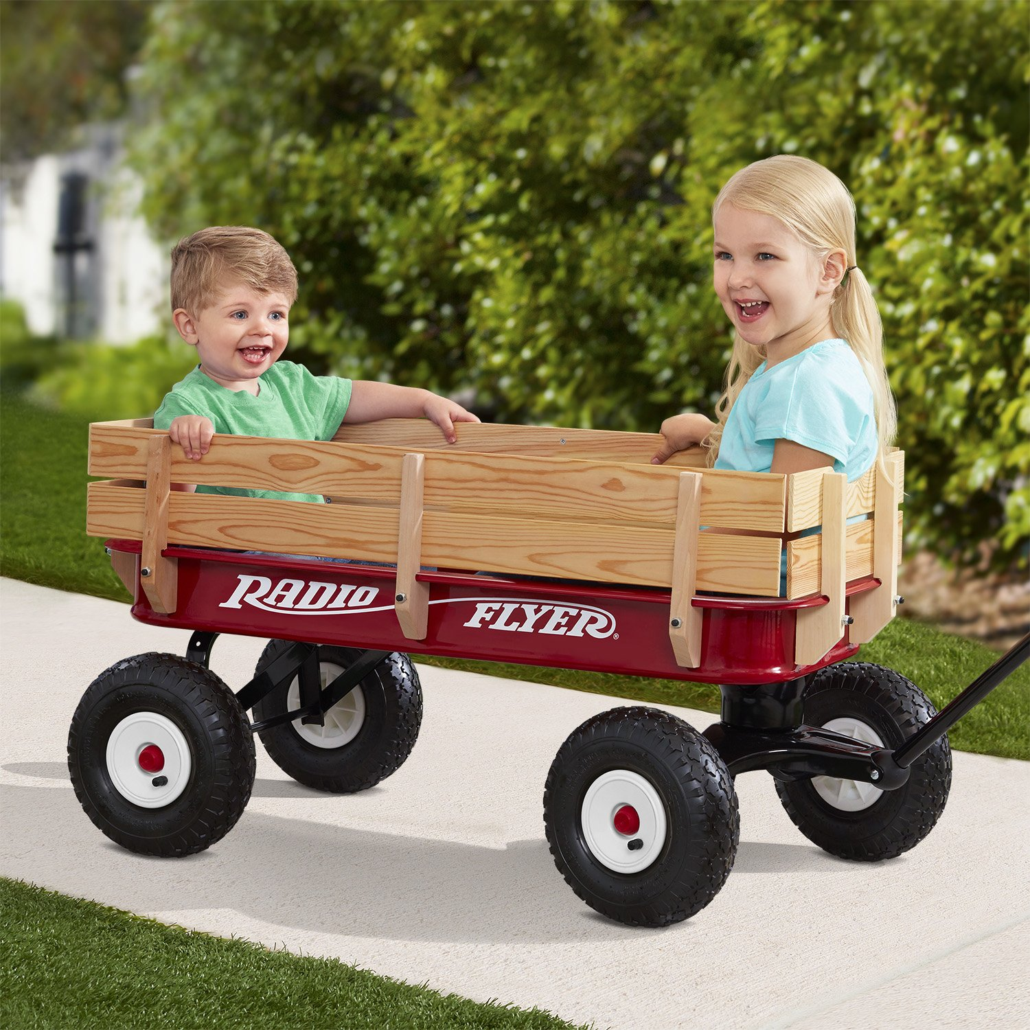 Radio Flyer Full Size All-Terrain Steel & Wood Wagon by Radio Flyer (Image #2)