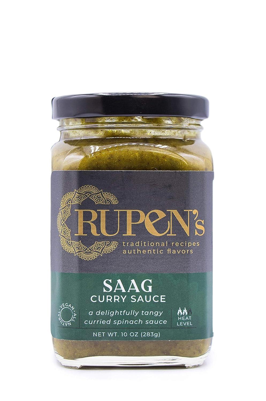 Rupen's Saag - Indian Spinach Curry Sauce, Vegan & Gluten-Free 10oz
