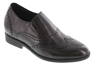 G65750-2.8 inches Taller - height Increasing Elevator Shoes - Black Lightweight Dress Shoes