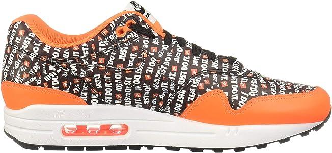 Mens Air Max 1 Premium Fashion Sneaker (BlackTotal Orange White, 9 M US)