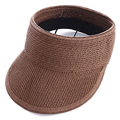 479e66e13d7d3 Visera Gorra Sombrero del Sol Mujer Niñas Café  Amazon.es  Ropa y accesorios