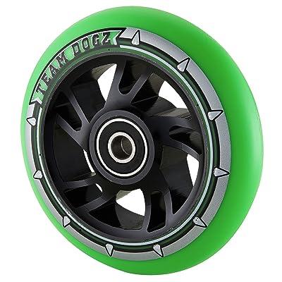 Team Dogz 110mm Swirl Core Stunt Scooter Wheel - Black/Green