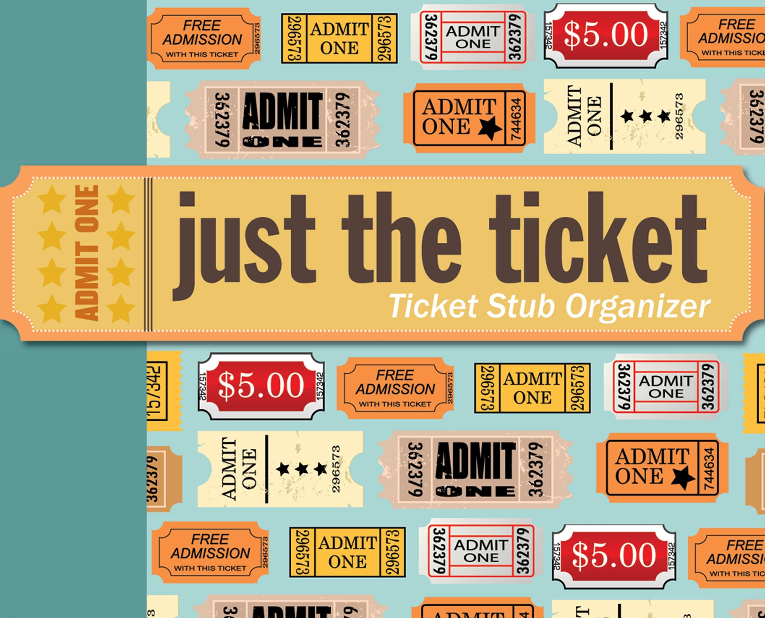 Just The Ticket Stub Organizer Peter Pauper Press Inc 8601419882007 Amazon Books