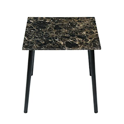 189fd193fe20f Amazon.com - Olee Sleep Square Dining Table with Faux Marble Top (Dark  Emperador) - Tables