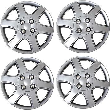 "4 pc Universal Hub Cap ABS Silver 14/"" Inch Rim Wheel Cover Caps Fits Honda Civic"