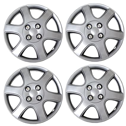 Amazon.com: Tuningpros WC3-14-5888-S - Pack of 4 Hubcaps - 14-Inches Style 5888 Snap-On (Pop-On) Type Metallic Silver Wheel Covers Hub-caps: Automotive