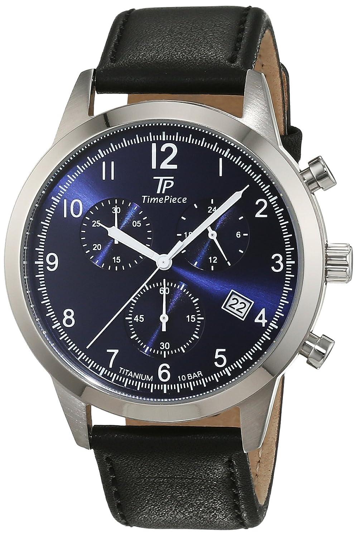 Time Piece Herren-Armbanduhr Titan Chronograph Quarz Leder TPGT-50342-32L