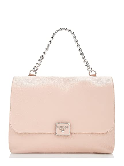 6bfd18eadc54 GUESS Luxe Leather Handbag Women s Shoulder Bag Vicky Beige Light Pink   Amazon.co.uk  Shoes   Bags