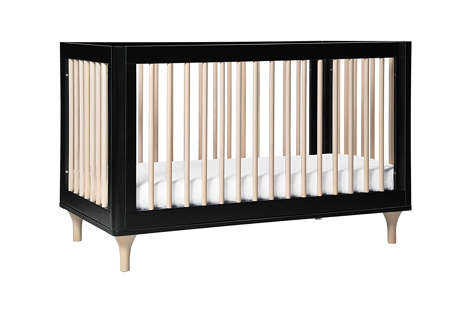 Babyletto Lolly 3 In 1 Convertible Crib With Toddler Bed Conversion Kit, Black / Washed Natural by Babyletto