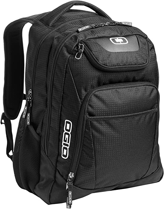 "OGIO 411069-BLACK Business Excelsior 17"" Laptop Backpack/Rucksack, Black/Silver"