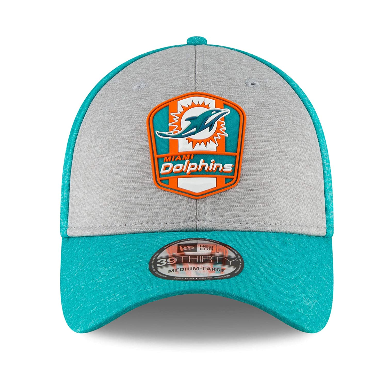 47f9c3b50 ... Amazon.com New Era Mens Miami Dolphins AquaOrange 2018 NFL Sideline  Home Historic Official 39THIRTY  NFL Denver Broncos 39Thirty Colour Rush ...