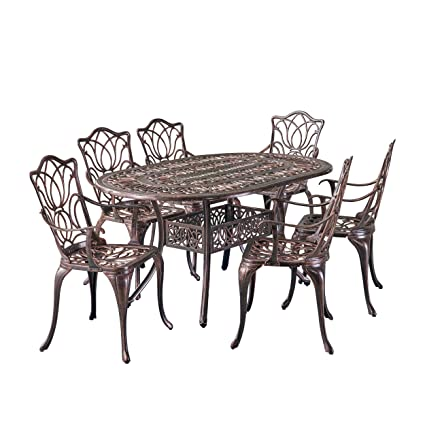 Image Unavailable - Amazon.com: Gardena Outdoor Furniture Dining Set, Table And Chairs